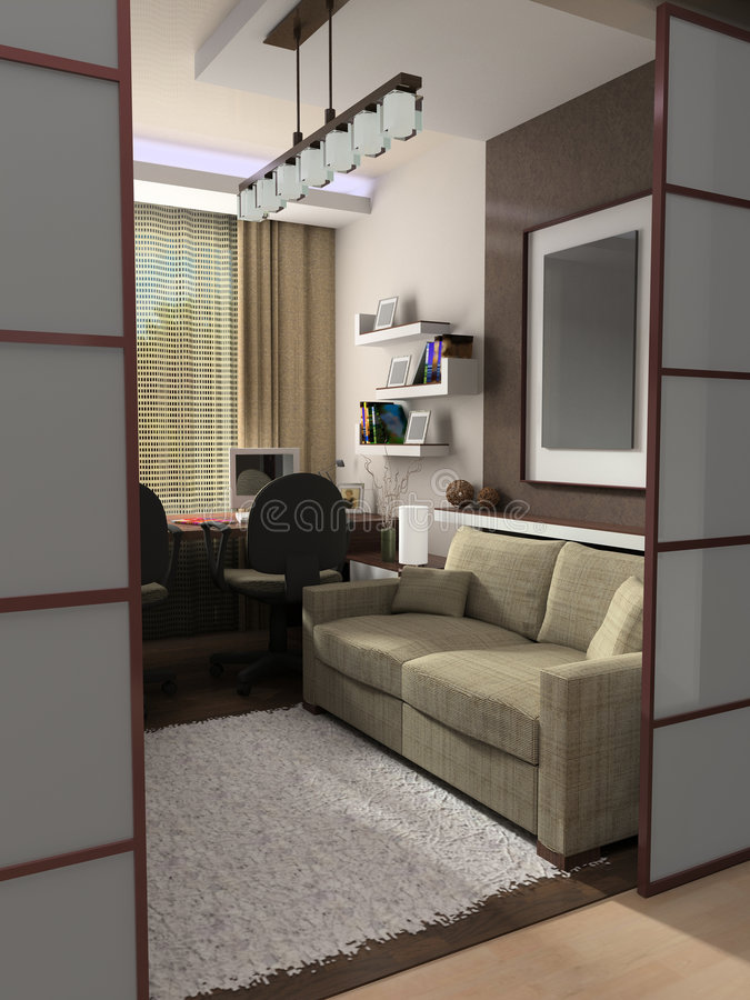 Free Modern Interior Of A Cabinet Royalty Free Stock Photography - 2365267