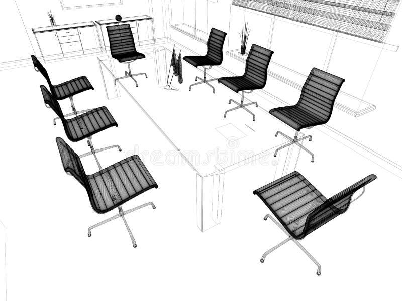 Modern interior of office stock illustration