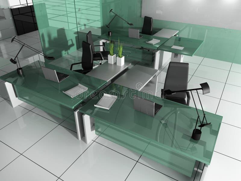 Modern interior of office vector illustration