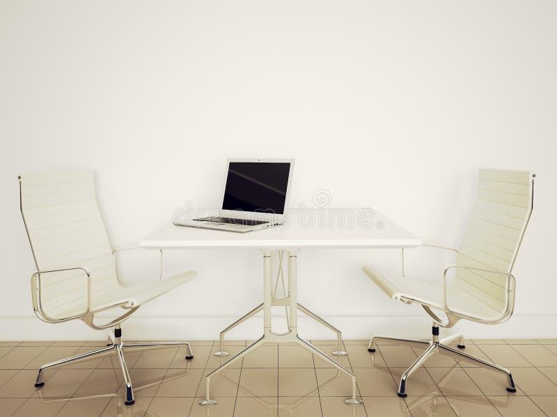 Modern interior office stock illustration