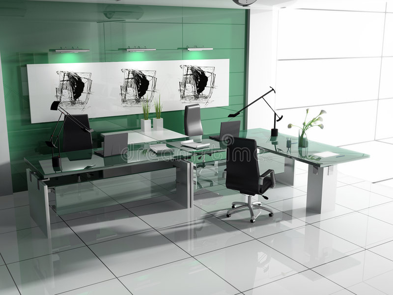 modern interior office stock. Download Modern Interior Of Office Stock Illustration. Illustration Light - 4077398 I