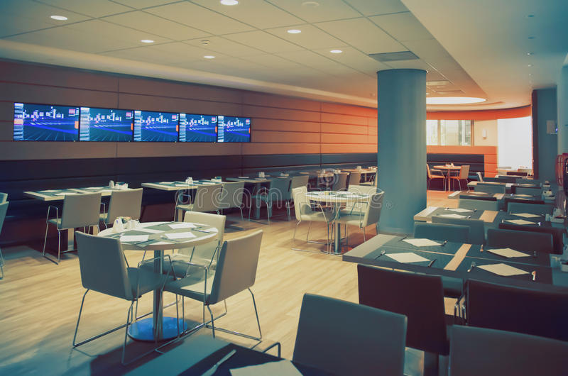 Interior of restaurant royalty free stock image