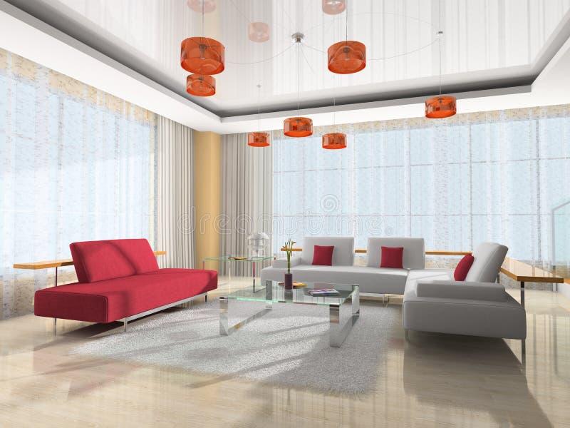 Modern interior of the room vector illustration