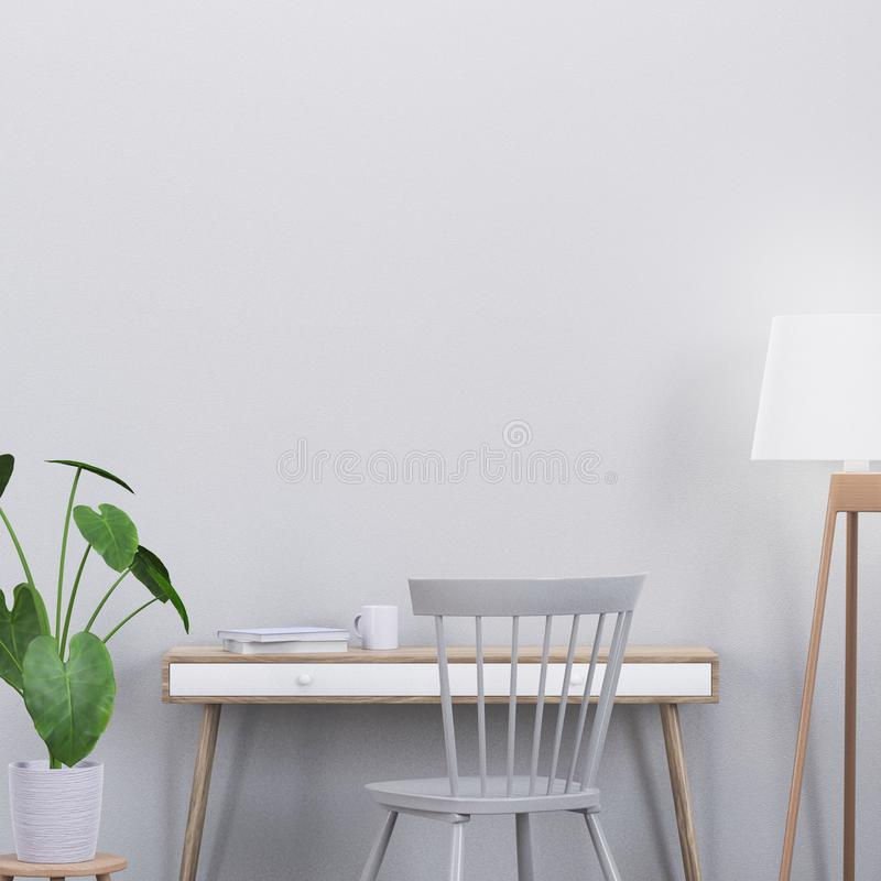 Free Modern Interior Scene With A Console And A Chair, 3D Render Stock Photo - 123061400