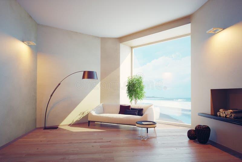 Modern interior stock illustration. Illustration of white - 30924286