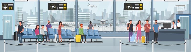 Modern international airport vector illustration vector illustration