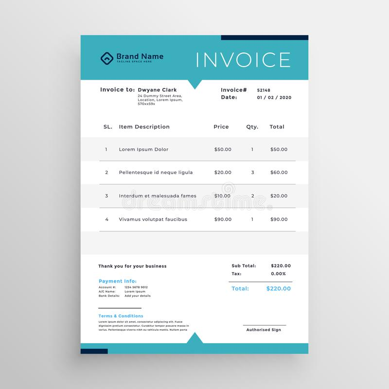Modern invoice template for your business vector illustration