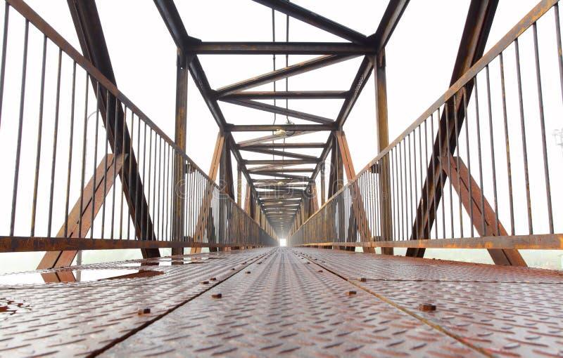 Modern iron bridge. stock photos