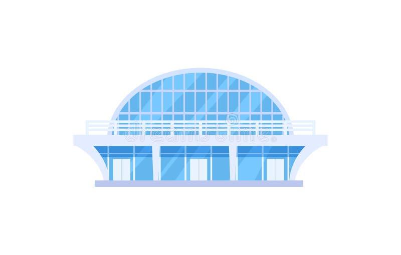 Modern isolerad symbol för sportar stadion royaltyfri illustrationer