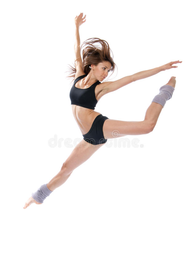 Modern jazz contemporary style woman ballet dancer royalty free stock photos