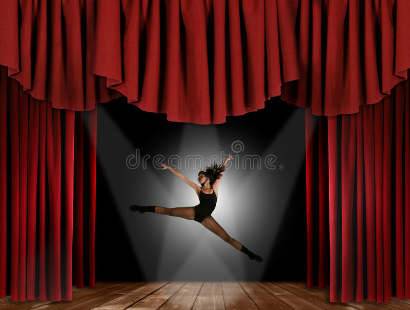 Modern Jazz Street Dancer Jumping royalty free stock photos