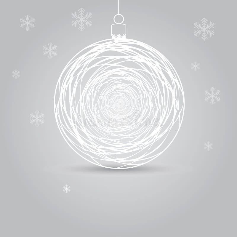 Modern julbollhälsning royaltyfri illustrationer