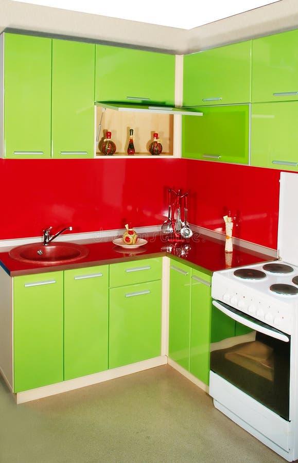 Modern kökinre fotografering för bildbyråer