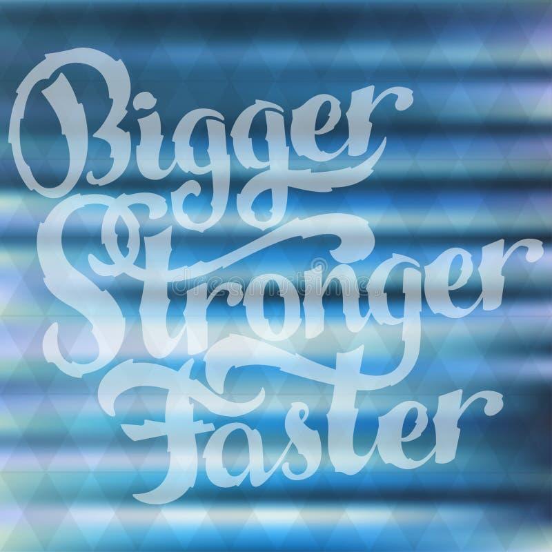 Modern kalligrafie inspirational citaat Hand het getrokken borstel van letters voorzien voor affiche, banner, prentbriefkaar, mot stock illustratie