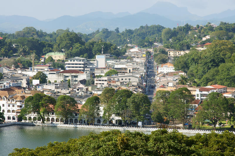 Modern Kandy. Kandy is the English name for the city of Maha Nuvara (Senkadagalapura) in the centre of Sri Lanka. It lies in the midst of hills in the Kandy stock image