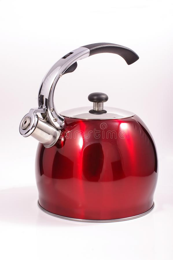 Modern kettle isolated. On the white background royalty free stock photos