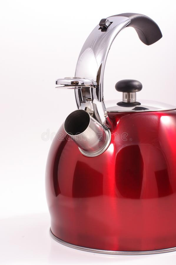 Modern kettle isolated. On the white background stock photos