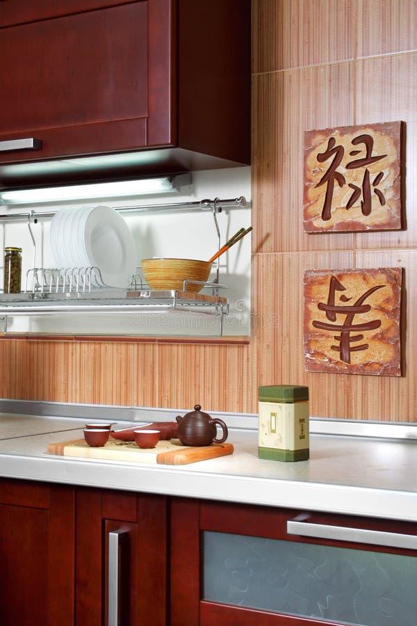 Modern keukendetail stock fotografie