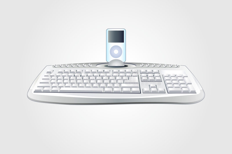 Download Modern keyboard with ipod editorial stock photo. Illustration of abstract - 3714978