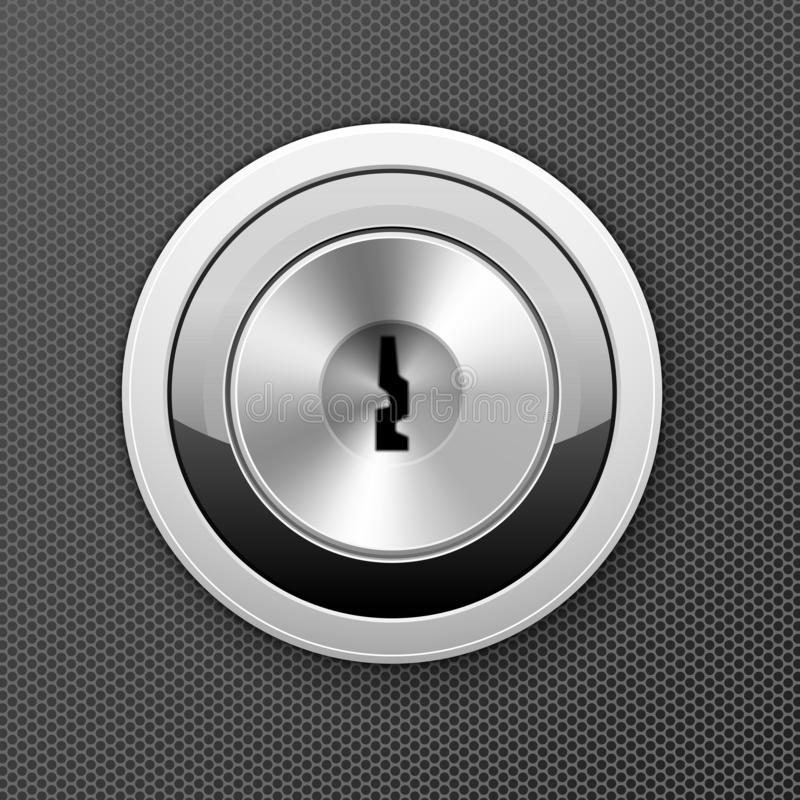 Modern keyhole - door lock icon, flat key hole royalty free illustration
