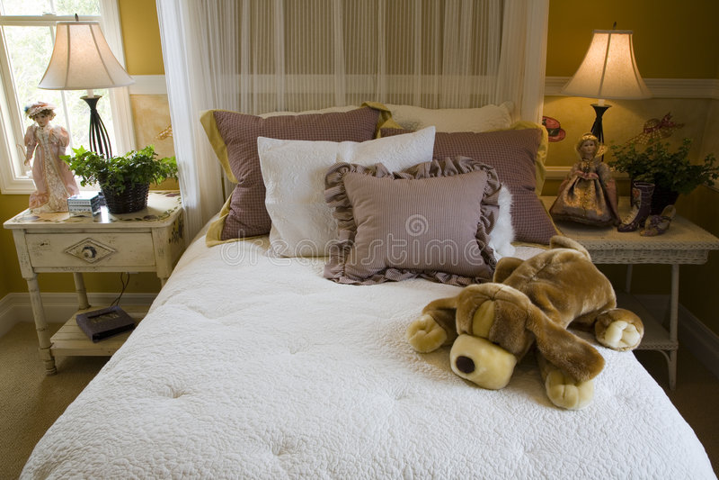 Modern kids bedroom. royalty free stock image