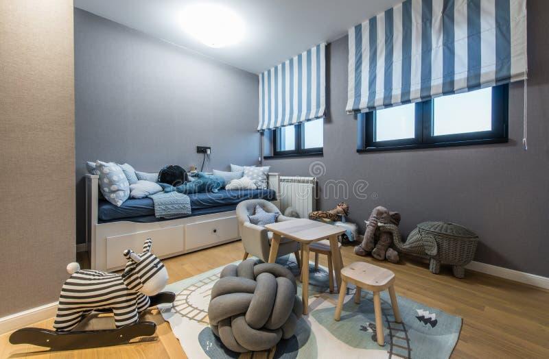 Modern kids room interior royalty free stock photos