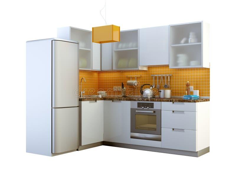 Modern kitchen royalty free illustration