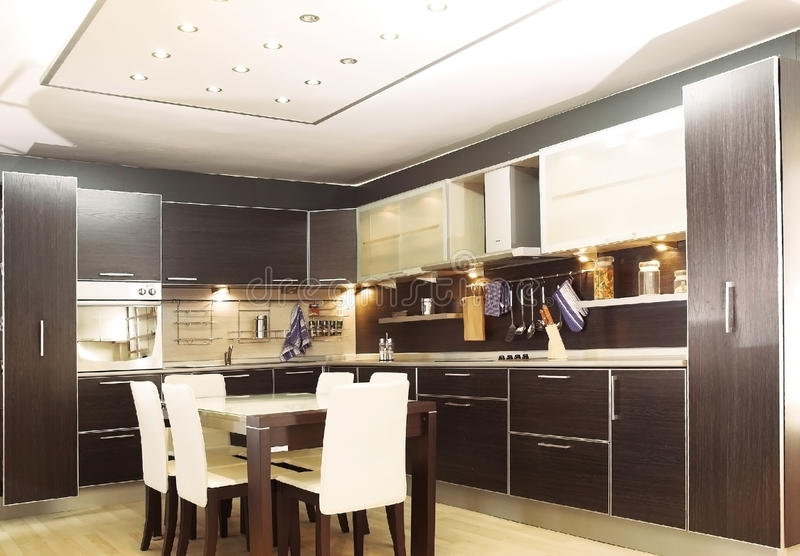 Download Modern kitchen stock image. Image of life, house, architecture - 20109021