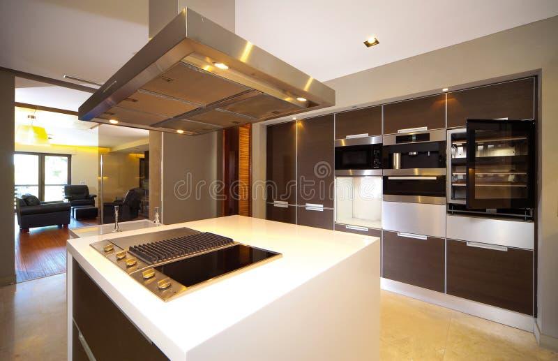 Modern kitchen. Modern contemporary kitchen and kitchen equipments