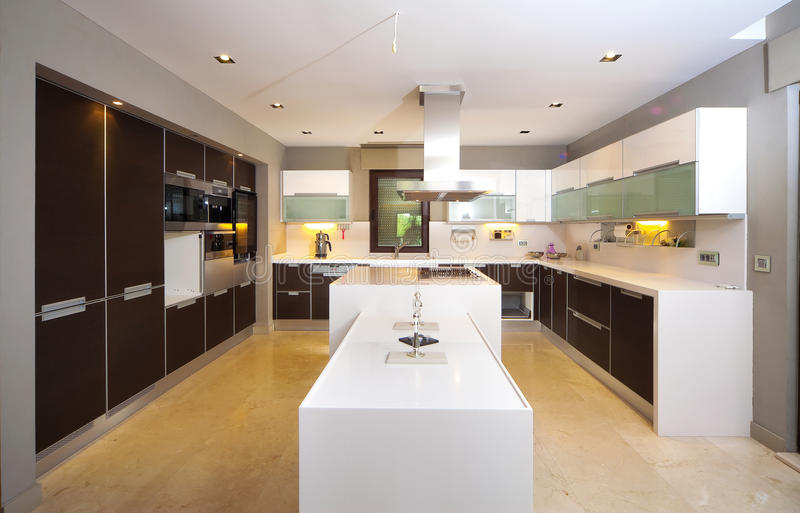 Modern kitchen. Modern contemporary kitchen and kitchen equipments