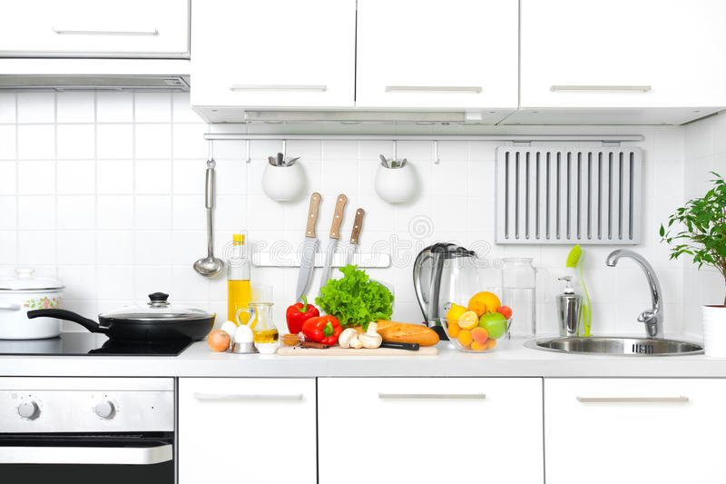 Modern kitchen stock image