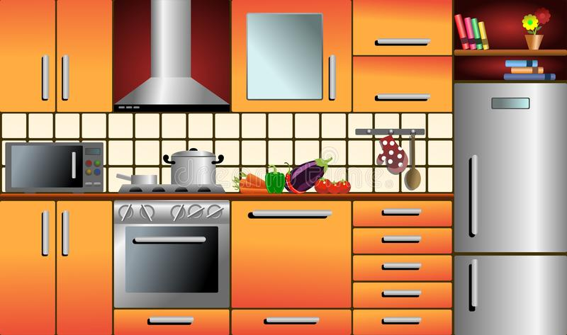 Download Modern Kitchen stock vector. Image of vector, interior - 29090222