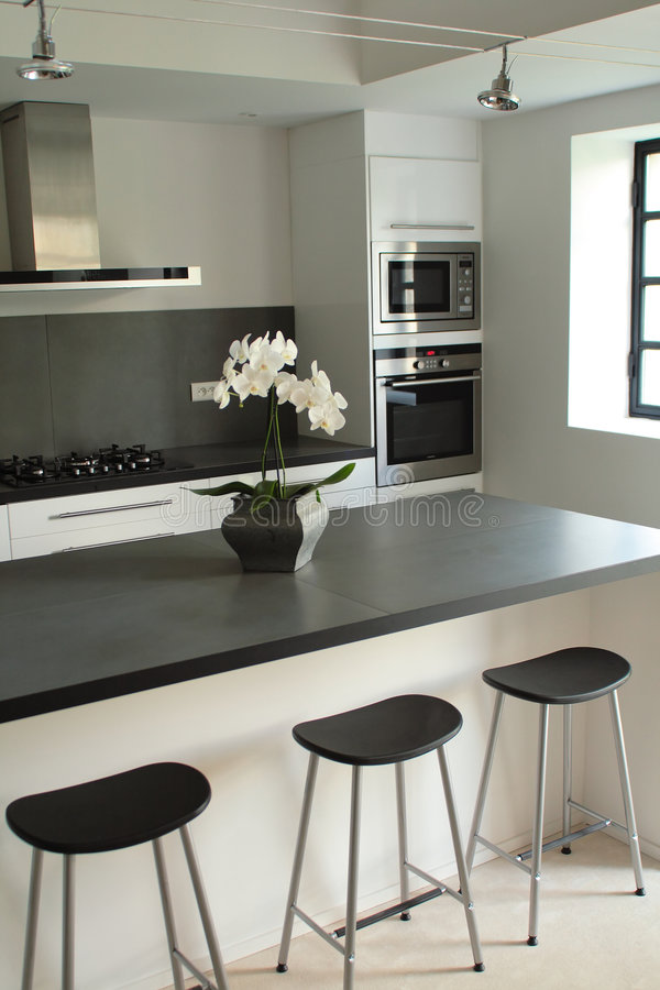 Download Modern kitchen stock photo. Image of contemporary, fashion - 3300454