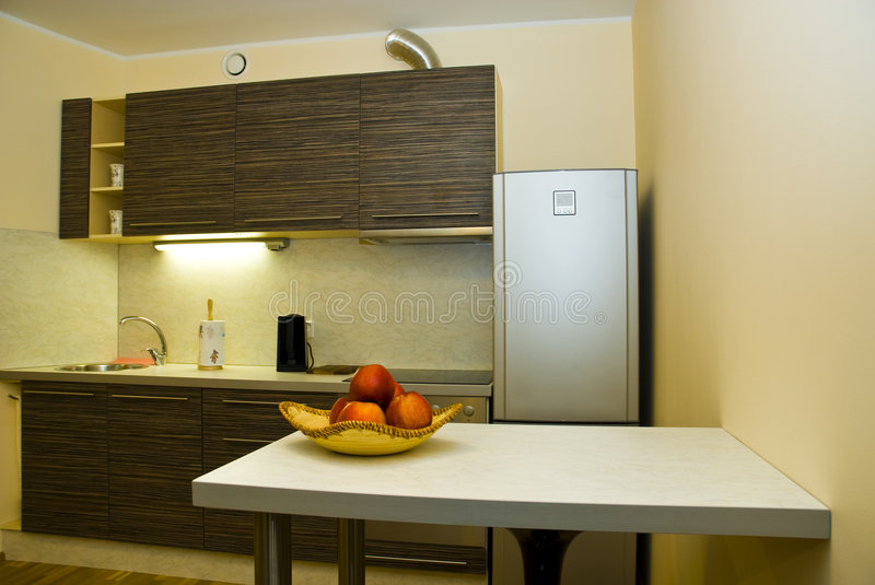 Download Modern kitchen stock image. Image of small, home, contemporary - 4139193