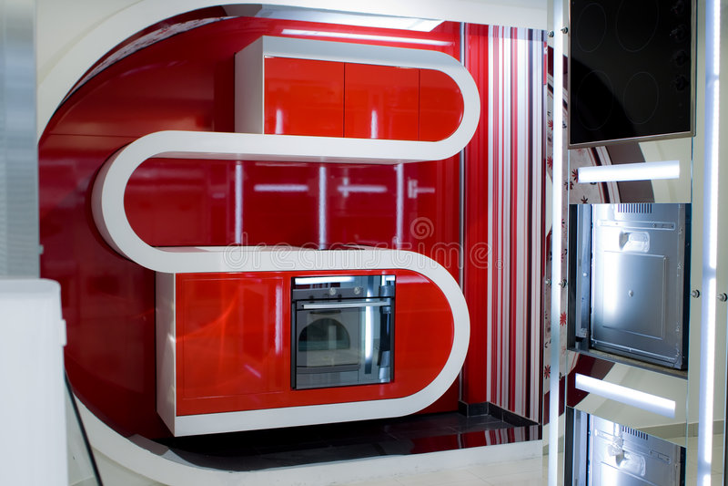 Download Modern kitchen stock image. Image of indoors, white, design - 6216213
