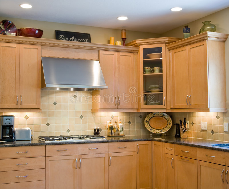Download Modern Kitchen stock image. Image of homes, home, tops - 6520365