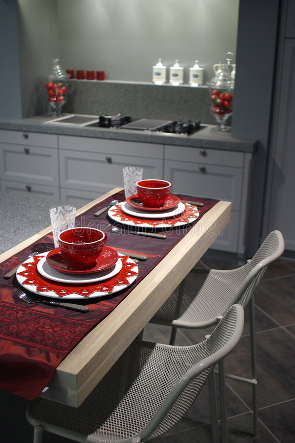 Download Modern Kitchen With Breakfast Table. Royalty Free Stock Photos - Image: 3814008
