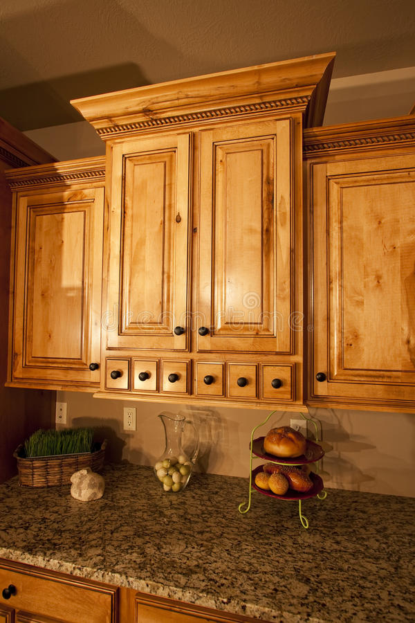 Modern Kitchen cabinetry stock photo