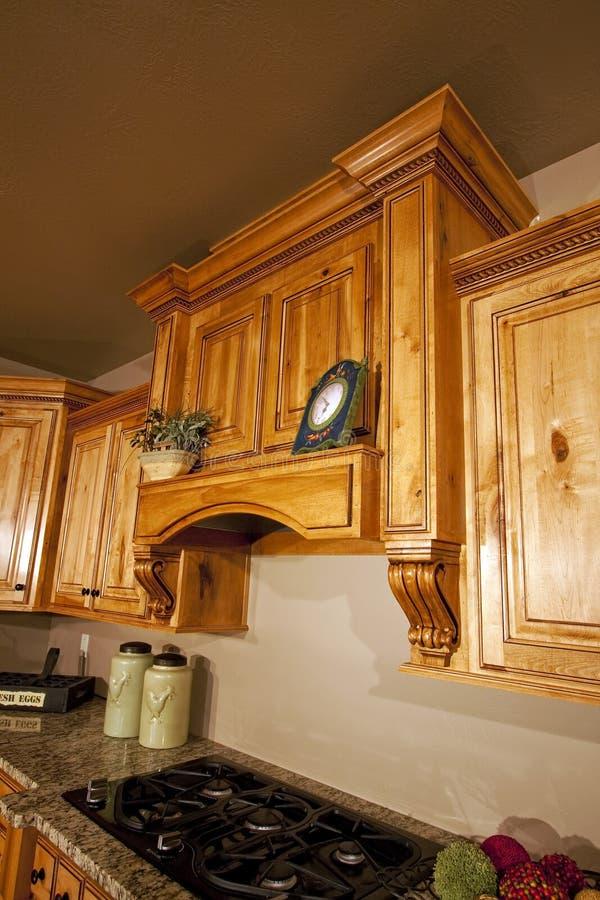 Modern Kitchen Cabinets Range Hood stock image