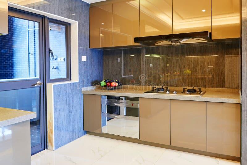 Modern kitchen royalty free stock image