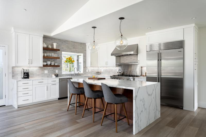 Modern kitchen design home interior royalty free stock photos