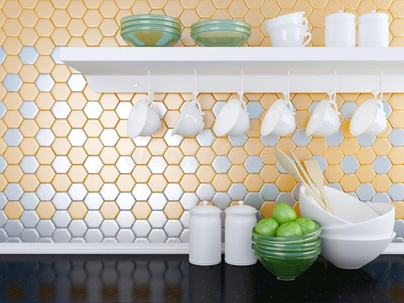 Modern kitchen design. royalty free illustration