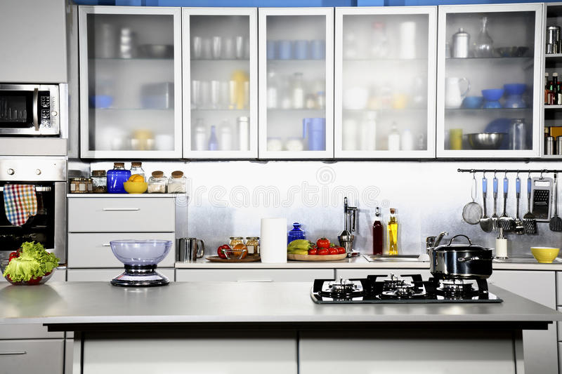 kitchen front design. Modern Kitchen Front View Stock Photo  Image Of Contemporary 16720936