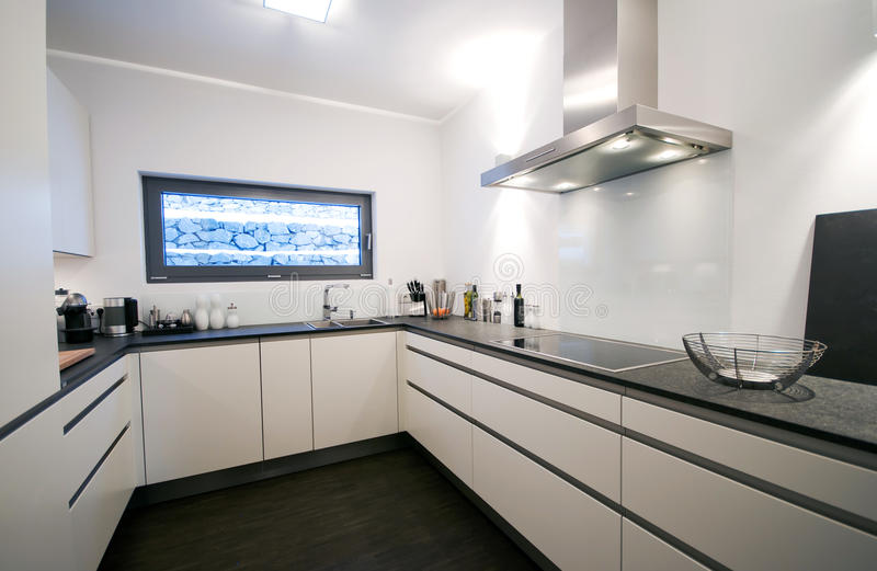 Download Modern kitchen interior stock image. Image of white, room - 12861641
