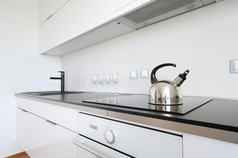 Modern kitchen interior royalty free stock images