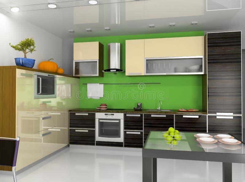 Modern kitchen interior. (computer generated image