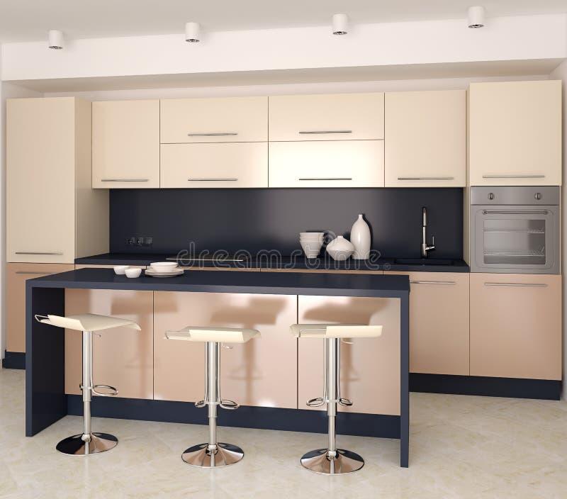 Modern kitchen stock illustration