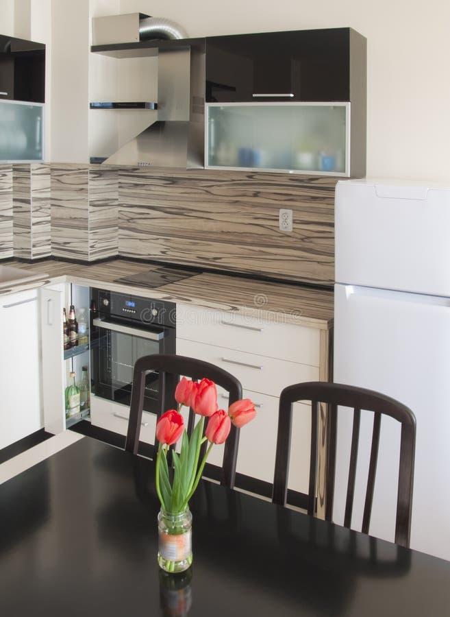 Modern kitchen interior design stock image