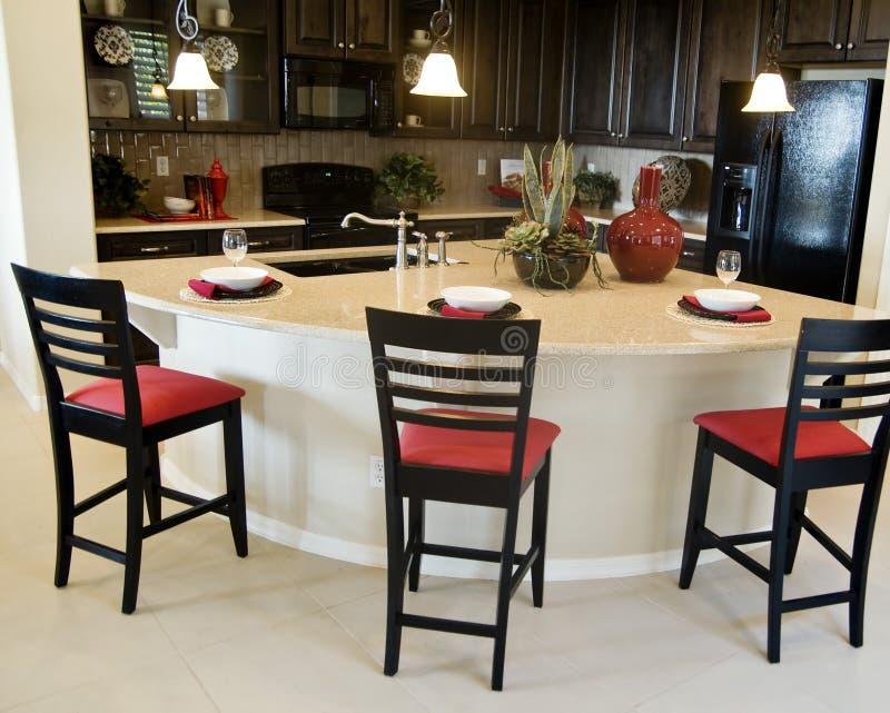 Modern Kitchen Interior Design stock photography