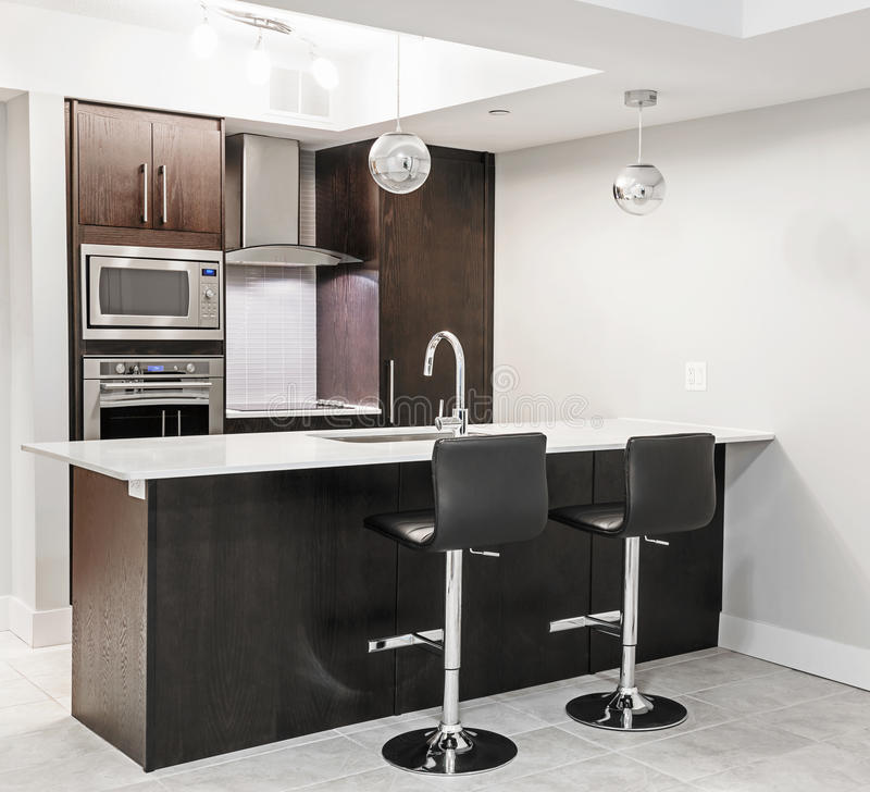 Modern kitchen interior stock photo image 53251910 - Stainless steel microwave interior ...